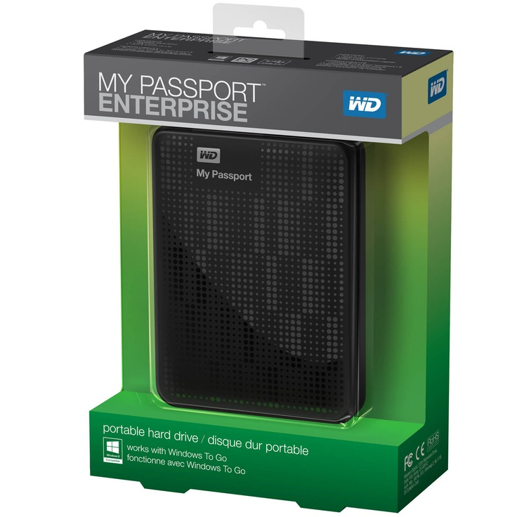 WD has introduced My Passport Enterprise, one of the industry's first portable hard drives designed specifically for use with Microsoft's Windows To Go, which enables corporate customers to provision a fully featured Windows 8 workspace on a bootable USB drive.