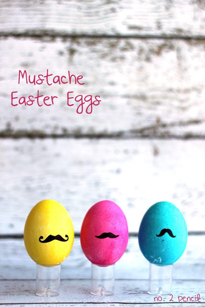 Mustache Easter Eggs