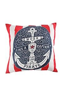 PRINTED ANCHOR 50X50CM SCATTER CUSHION