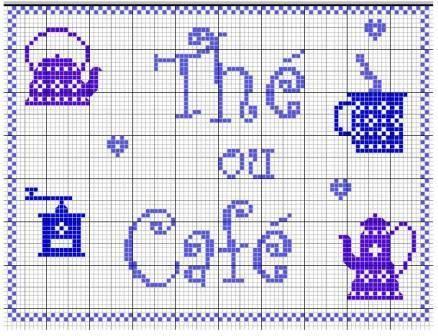 thé ou café free cross stitch lovely