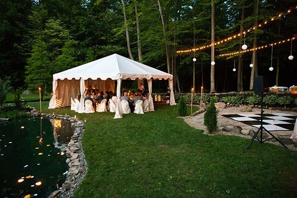 Real Weddings: Sarah and Zac's $7,000 Backyard Wedding - Something along the lines of what I want!!!