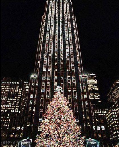 Albero di Natale al Rockefeller Center di New York http://blog-it.hotelsclick.com/2014/11/alberi-di-natale-origini-e-tradizioni.html