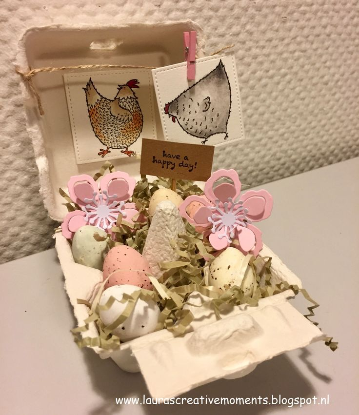 Hey, chick!, Stampin' Up! Sale-a-bration 2017 - Easter project idea (mini egg carton)