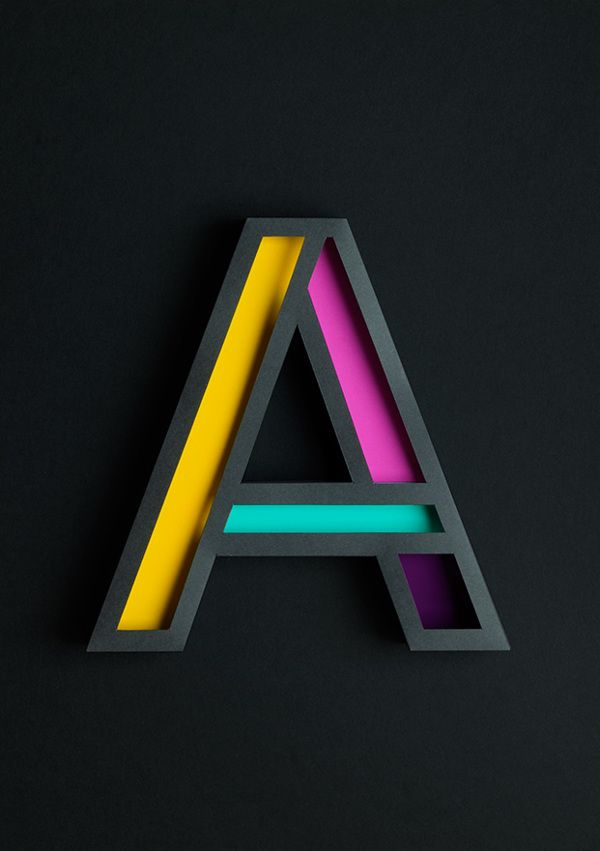 Beautiful 3D Typography Of The Letter 'A' Handcrafted With Paper - DesignTAXI.com