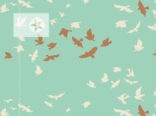 Baumwolle von Art Gallery ♥ Vögel ♥ mint von clarasstoffe auf DaWanda.com