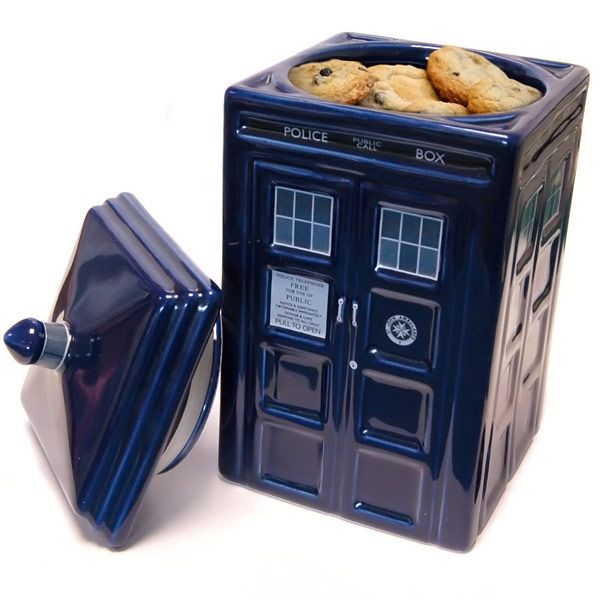 Doctor Who TARDIS Ceramic Cookie Jar~ For your out of this world yummy cookies.