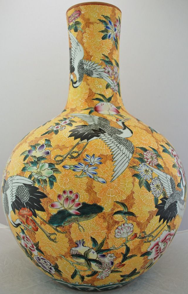 Large Yellow Jingdezhen Vase
