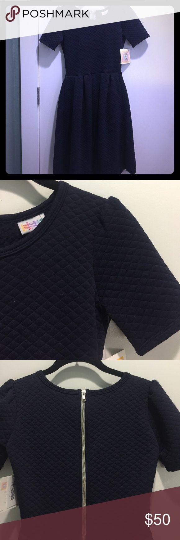 Lularoe navy blue quilted Amelia dress Lularoe Amelia dress in a navy blue quilted pattern, brand new with tags! LuLaRoe Dresses