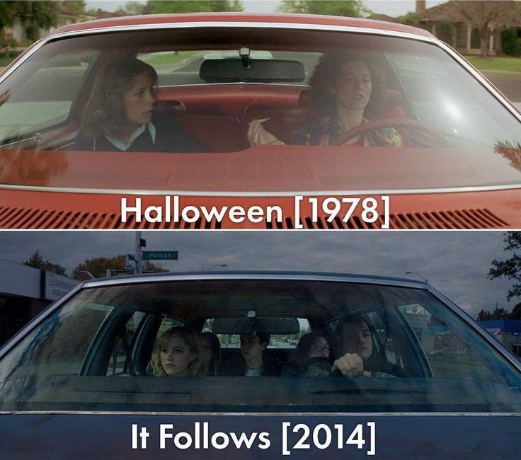 """Нимус. кино on Instagram: """"И правда: новое — это хорошо забытое старое. Помимо некоторых, таких как этот, операторских приёмов и саспенса, """"It follows"""" похож на культовое творение Карпентера и своим саундтреком — жутким, нагнетающим, безупречным. #кадры #сходство #ужасы #хорроры #карпентер #митчелл #хэллоуин #halloween #оно #itfollows"""""""