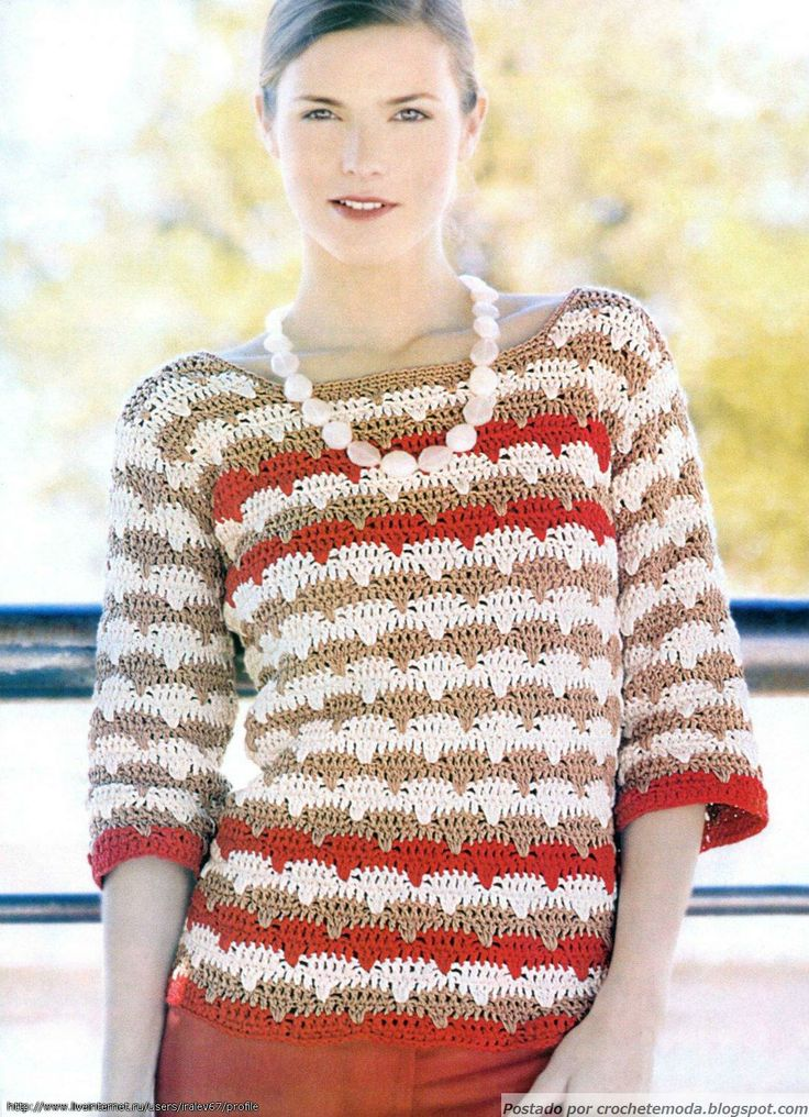 Blusa de Crochet, not in English but there's a chart