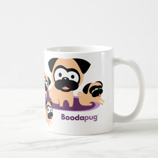 Whole Lotta Pugs Purple Coffee Mug