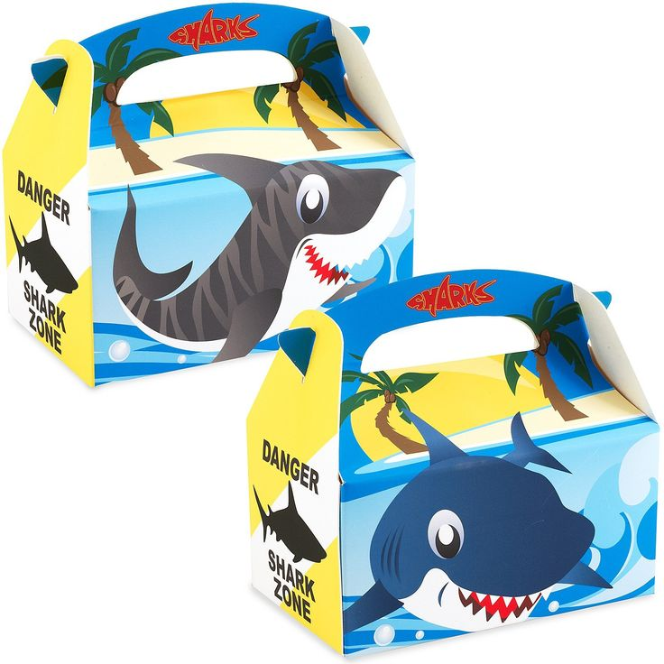 Sharks - Empty Favor Boxes