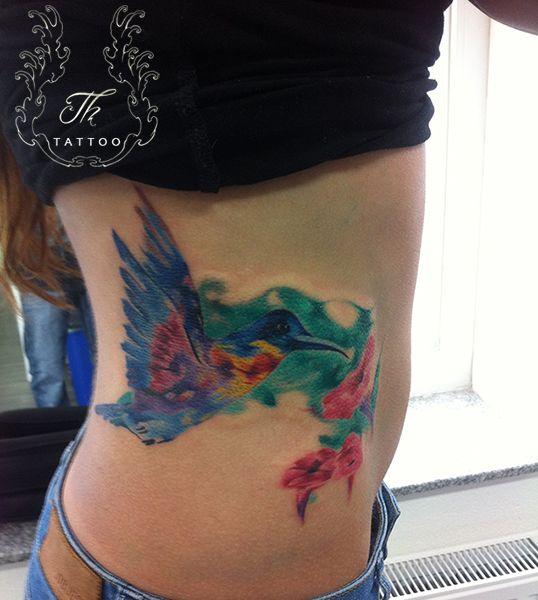 Girl tattoo_color_flowers_tatuaje_fete_bucuresti