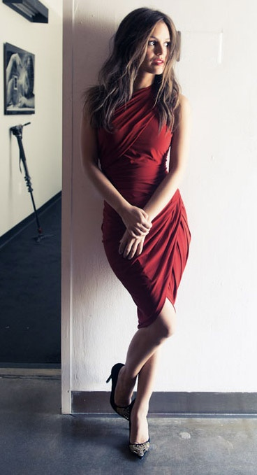 Studded heels from Shoemint / Wrap dress by Alexander Wang: Rachelbilson, Red Wraps Dresses, Style, Clothing, Hot Dresses, Wraps Around Dresses, Rachel Bilson Fashion, The Dresses, Cute Red Dresses