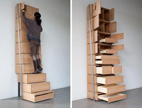 Gran idea, ahorra espacio y esfuerzo.