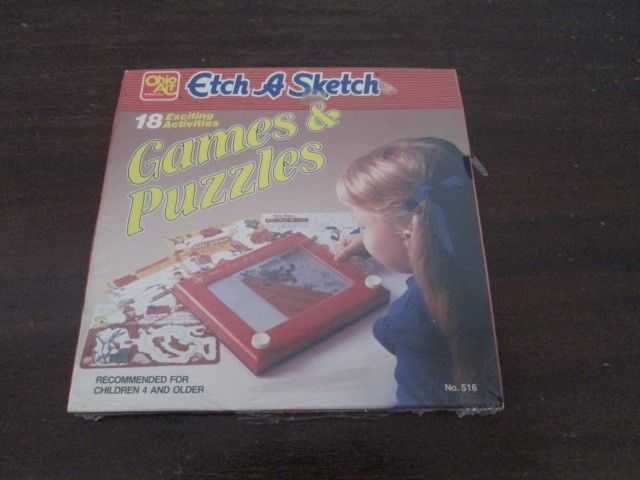 Set of 2 Vintage Ohio Art Etch A Sketch Overlays Games & Puzzles