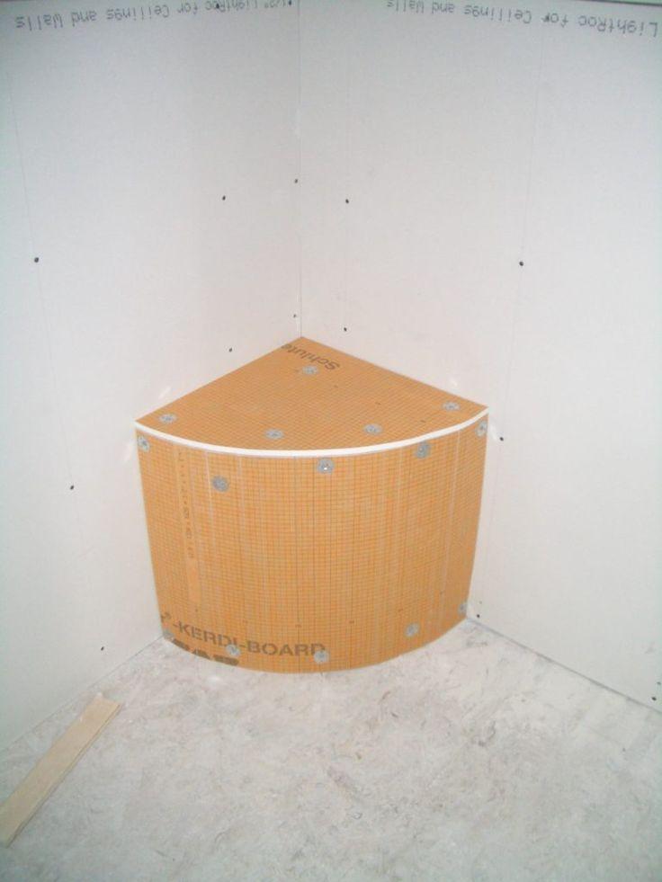 shower pan liner over bench