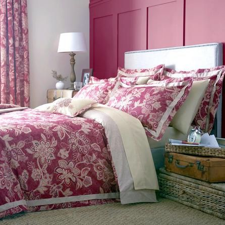 Dorma Red Samira Collection Duvet Cover Dunelm Bedroom