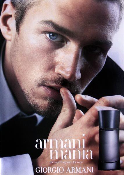 Publicité du parfum Armani Mania pour homme de Giorgio Armani - Photo Steven Klein