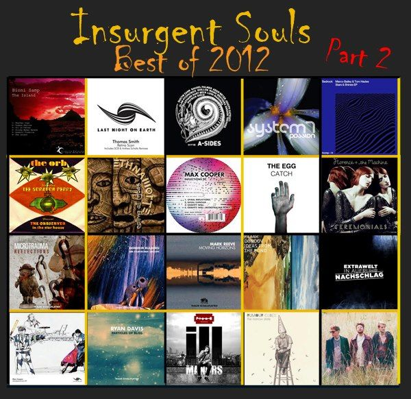 thanks to the Insurgent Souls radio show for including me in the Best of 2012 :) http://cloudandowl.tumblr.com/  If you missed our show on Thursday then you'll have missed the 2nd part of our top 40 countdown, featuring the top 20 tunes that made our year in 2012.   See our tumblr page for the lowdown: http://cloudandowl.tumblr.com/post/39876221073/iswk17