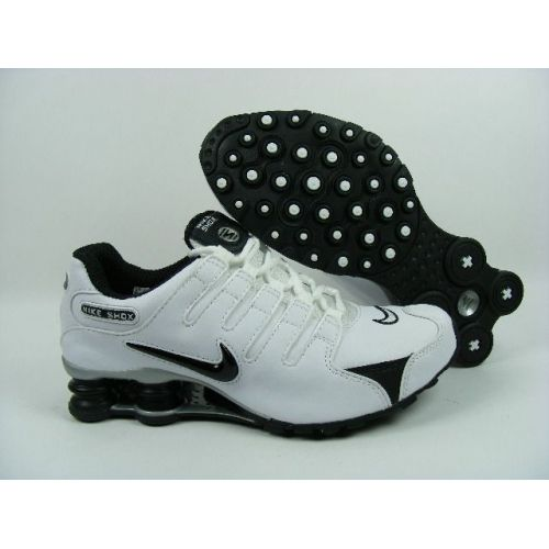 Nike Shox NZ White Black Men Shoes $79.59
