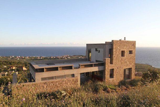 Εξοχική κατοικία στη Μάνη Hiboux architecture