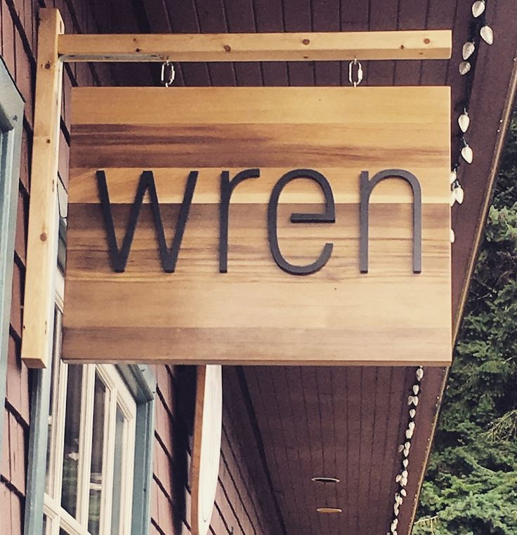 Wren Sign - Bowen Island
