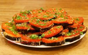 Овощная запеканка с сыром сулугуни