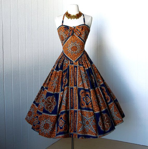 vintage 1950's dress rare couture designer FRANK STARR by traven7, $370.00