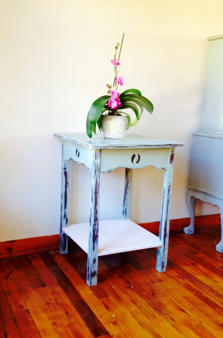 This beautiful little table can have various uses such as a display table or even a bedside table.  If used as a display table, a large ginger jar, an orchid or a large vase with flowers can be placed on top. The bottom shelf can also be used for display of coffee table books or other favourite books. - SHOP ONLINE See more at: http://www.artesense.co.za/pSKU162/Shabby-Chic-Distressed-WoodenTable.aspx#sthash.kKhK6lbu.dpuf