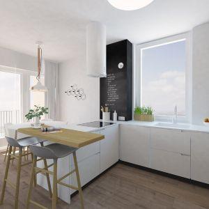 kuchyna, tabulova stena, barovy pult