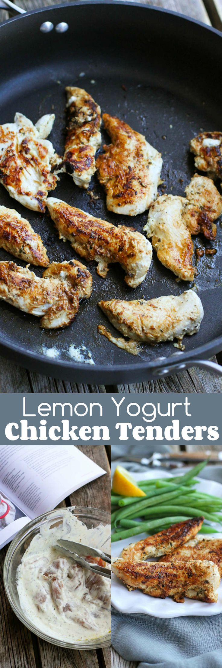 Lemon Yogurt Chicken Tenders…Eat these on their own, use them to top salads or cut up and tossed in pasta! 191 calories and 2 Weight Watchers SmartPoints