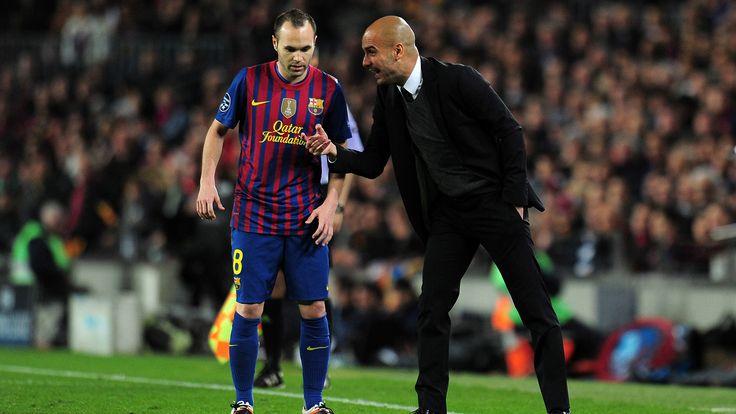 Andres Iniesta Pep Guardiola FC Barcelona 24042012