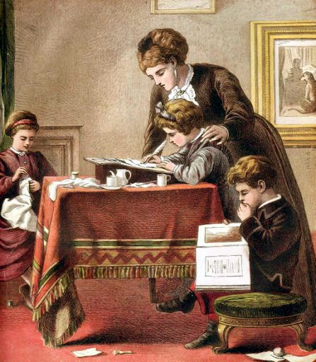 Susanna-Wesley, mother teaching children, homeschooling