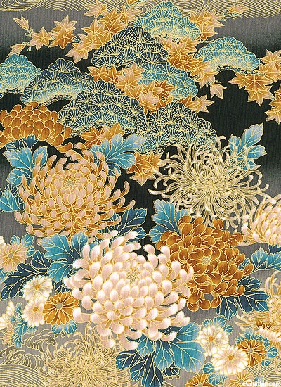 Chrysanthemum Perfection from the Tranquility collection by Kona Bay Fabrics (on equilter.com)