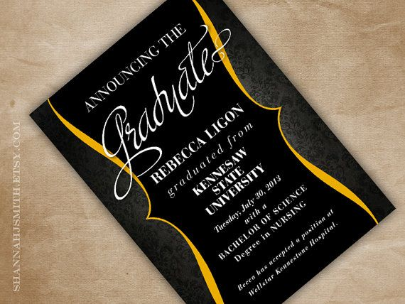design graduation invitations