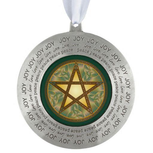 Copper Celtic Knot Pentagram - Pewter Ornament 32