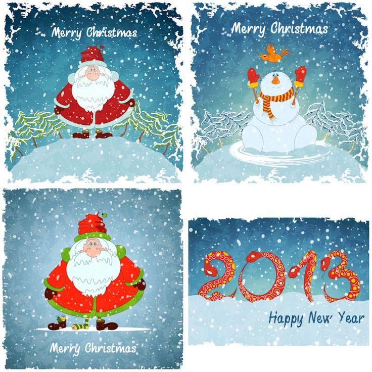 #Christmas #Santa backgrounds #vector