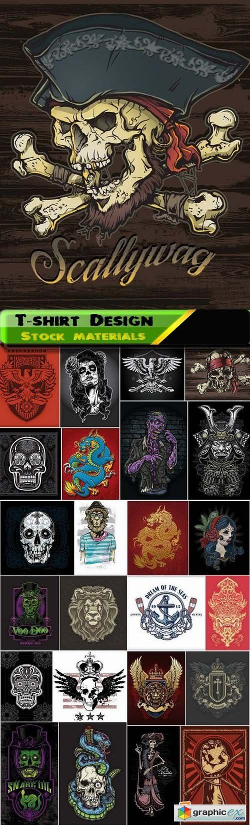 T shirt design 7 25xeps - T Shirt Design Elements In Vector From Stock 32 25xeps