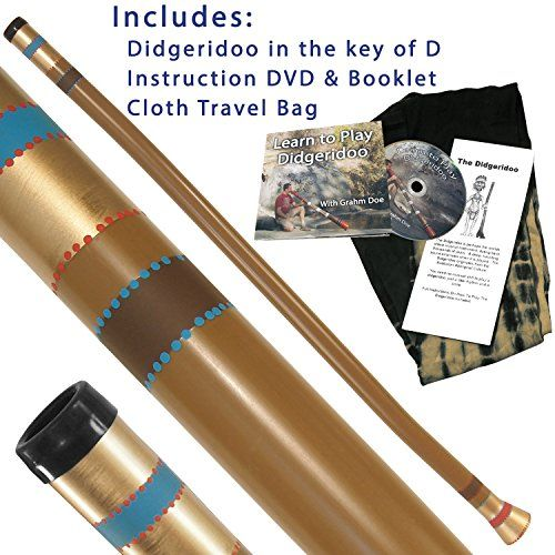 """Modern Didgeridoo FDNAT Package Deal with FREE Instruction DVD  Excellent sound and super durable!  47"""" Didgeridoo. Tuned to the key of D.  Great for a beginner or intermediate player!  Includes: Didgeridoo, Cloth Bag, Instruction Booklet & DVD.  You need no musical skill to play a didgeridoo, just a little rhythm and a smile!"""