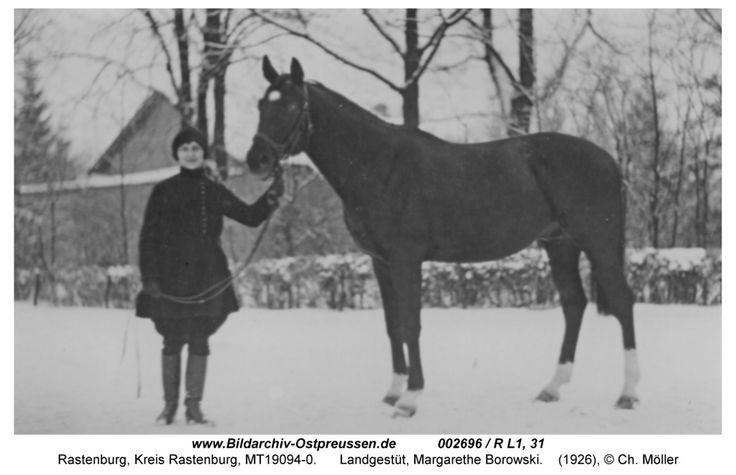 Rastenburg, Landgestüt, Margarethe Borowski