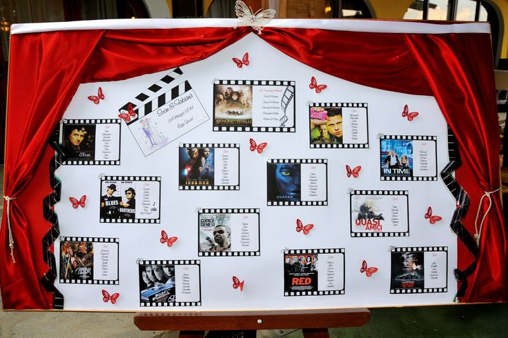 tableau de mariage tema cinema... possibilità di personalizzare con altri temi