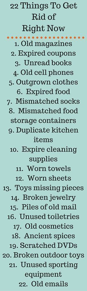 22 Things To Get Rid of Right Now - The Joyful Organizer #homedecluttering #clutterclearing #gettingridofclutter