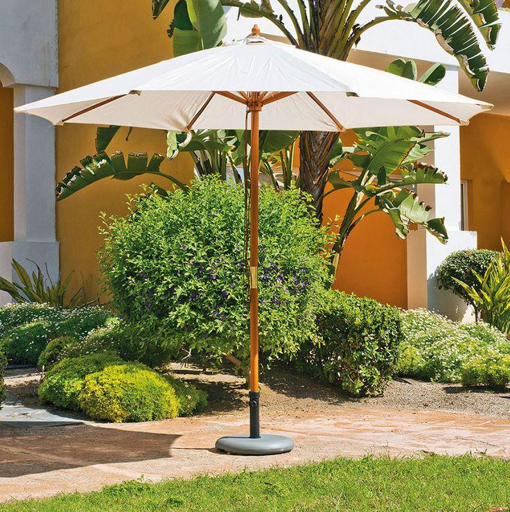 Mobiliario Terraza  Jardín y  Playa: Parasoles Sombrillas y Carpas | Parasol de madera reforzado de Jardín o Terraza Modelo Lux