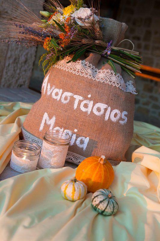 Γάμος country style με υλικά Newman   bombonieres.com.gr