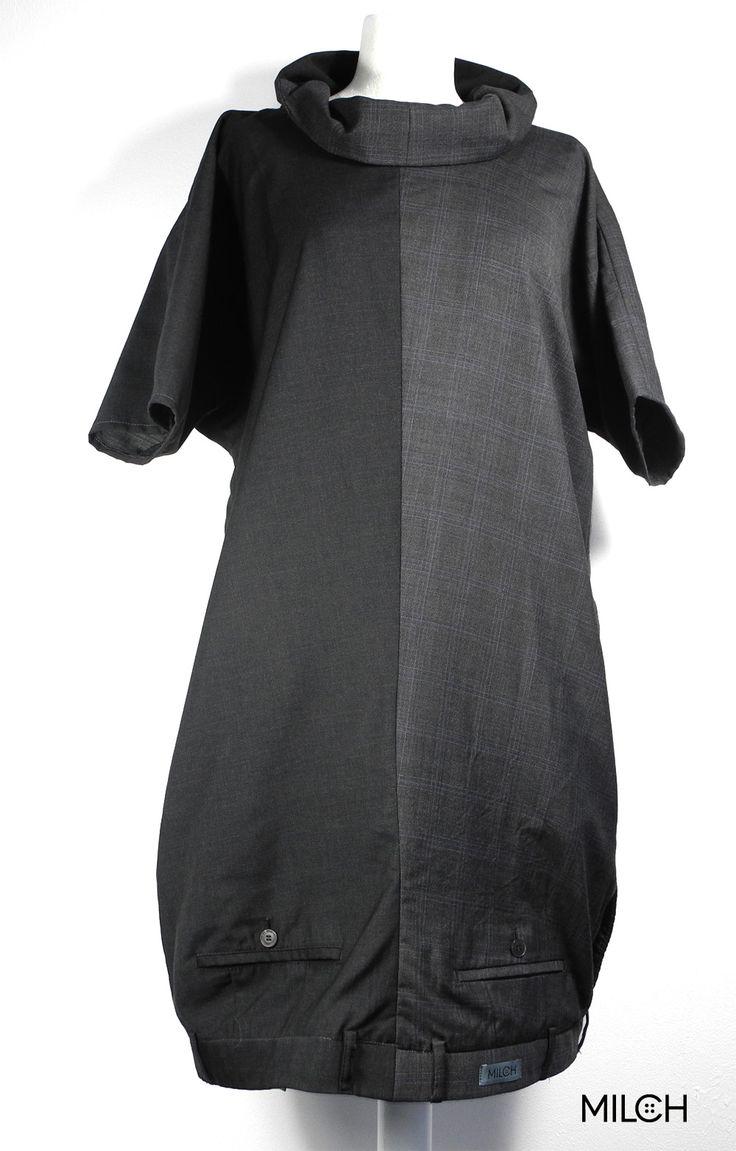 Ein Kleid aus 2 Hosen, mit Kragen und mit angeschnittenen Ärmeln. Neu: integrierte Seitennahttaschen!