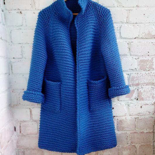 Кофты и свитера ручной работы. Кардиган САПФИР. Anna (love-knitting). Интернет-магазин Ярмарка Мастеров. Вязаная одежда