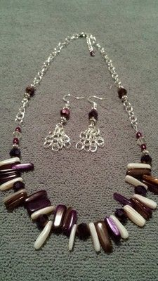 Purple Jewelry Fashion Set