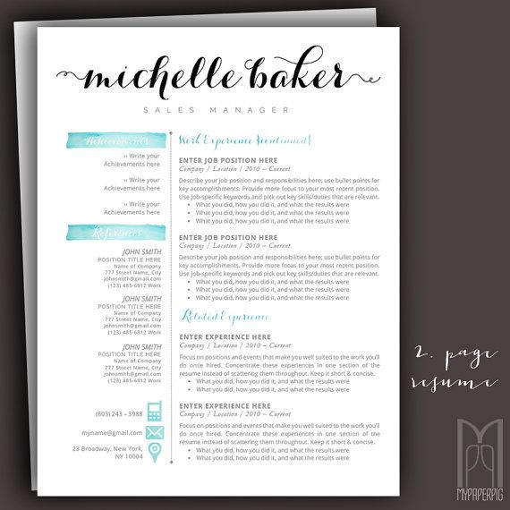 15 best Modern \ Creative RESUME TEMPLATES -- (CUSTOM NAME HEADER - header for resume