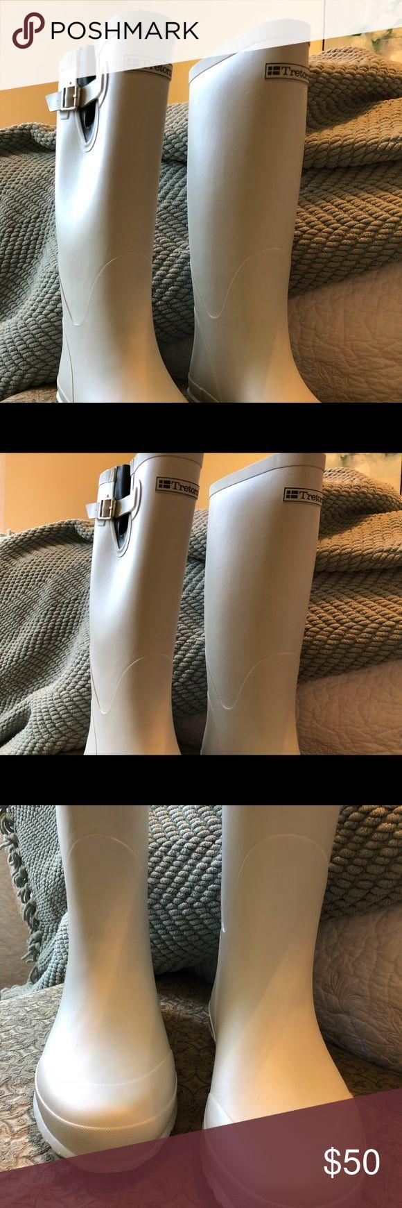 Brand new Rain Boots never worn Tretorn boots in heavy white rubber  sz 38/8 Tretorn Shoes Winter & Rain Boots